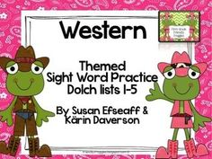 Literacy Center Games -Western themed Mega-pack- Dolch Sig