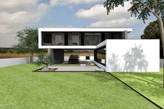 Magnific Home :: Projeto Rubi Minimalist House Design, Small House Design, Minimalist Home, Modern House Design, Futuristic Home, Building Concept, Dream House Exterior, Modular Homes, Tropical Houses