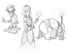 Night sketches 6-4-15 by LuigiL.deviantart.com on @DeviantArt