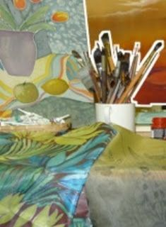 Learn how to paint on silk