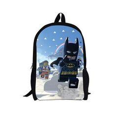 2016 New 16 Inch Cartoon Children Backpack Student School Bags School Lego Mochila for Teenage Kids