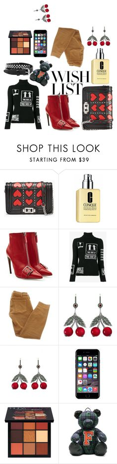 """""""#PolyPresents: Wish List its an avocadoo thanks!"""" by cindy-carroo ❤ liked on Polyvore featuring Clinique, Alexander McQueen, Moschino, Current/Elliott, Axenoff Jewellery, Off-White, Huda Beauty, Puma, Rust Mood and contestentry"""