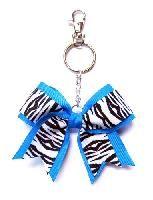 Printed Double Layer Mini Cheer Bow Keychain $3.65
