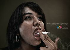 HCG: Thinking Mom  | Print Advertising | Anti Smoking Campaign | Health and Wellness Advertisement