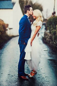 Wedding Photography Ideas: Blue Suits