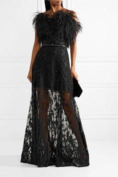 Elie Saab | Embellished embroidered tulle gown | NET-A-PORTER.COM