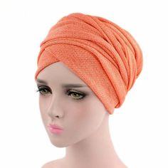 d3787d6db1d0a Fashion Breathable Mesh Turban Womens Shinny Head Wrap