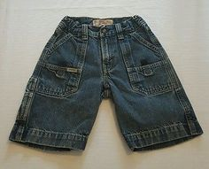 HUGE BACK TO SCHOOL SALE!  Boys Levied Strauss Signature Denim Cargo Jean Shorts Size 7