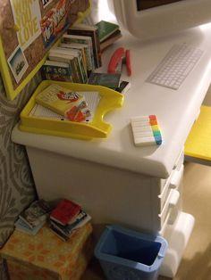 Dollhouse dorm room desk