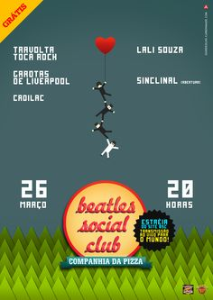 Cartaz para o show da banda Beatles Social Club - Portela Café