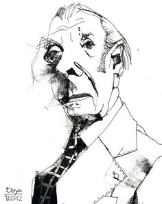 A Bunch of Borges by Jonathan Twingley, via Behance Ralph Steadman, Thumbnail Sketches, Unusual Art, Character Illustration, Painting Inspiration, Art Sketches, Painting & Drawing, Printmaking, Art Prints