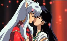 Inuyasha and Kagome's First Kiss