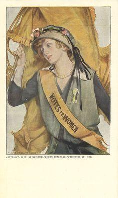 "M. Greene Blumenschein. ""Votes for Women"" Postcard, circa 1915. Postcard. Sophia Smith Collection, Smith College, Northampton, Massachusetts"