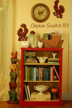 Barn Red Bookcase Makeover – DIY Chalk Paint