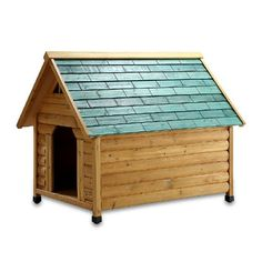 Pet Squeak Alpine Lodge Dog House, Medium -- Click on the image for additional details.
