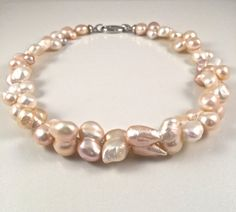 Freshwater Baroque Pearl Necklace by JiaojiaosPearls on Etsy