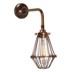 The Praia Vintage Cage Wall Light adds an industrial appeal and creates a very dynamic design statement to any room decor. This swing arm wall light is perfect for an industrial or rustic style living space. Industrial Wall Lights, Modern Wall Lights, Modern Lighting, Industrial Style, Traditional Wall Lighting, Swing Arm Wall Light, Brass Lamp, Brass Sconce, Ireland