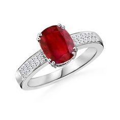 El anillo con rubi oval y diamantes TAJMAJAL es un anillo elegante y clásico, donde toda la importandia recae en su rubi central de 6*4 engarzado con 4 garras dobles que aseguran la sujección de esta piedra preciosa.     Los brazos del anillo tienen 0,24 quilates de diamantes en pave que aparecen a los lados de la montura. Puedes adquirirlo en www.joyeriaydiamantes.com
