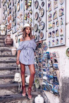 Annabelle Fleur in Amalfi Summer Fashion Outfits, Fashion 2017, Spring Summer Fashion, Cool Outfits, Girl Fashion, Casual Outfits, Fashion Dresses, Vacation Fashion, Amazing Outfits