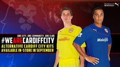 The first official pic of the alternative Cardiff City kits for 2013/14