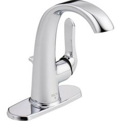 Delta Soline 4 in. Centerset Single-Handle Bathroom Faucet with Metal Drain Assembly in Chrome-15714LF-ECO - The Home Depot