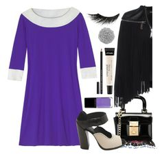 """""""Violet Blue"""" by sue-mes ❤ liked on Polyvore featuring Madison Knight, Dsquared2, philosophy, Illamasqua and NYX"""