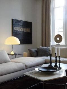 Marktplaats.nl - Bank Hamilton, Minotti, showroommodel - Banken | Sofa's en Chaises Longues van 12.000 voor 8000 Chic Living Room, Hamilton, Modern, Composition, Sofa, Interior, House, Vintage, Design