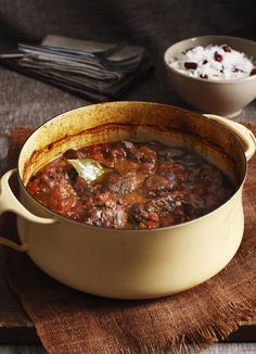 Mutton is just lamb which is two years old or more so requires slow cooking to become tender. It has a slightly stronger flavour than lamb which stands up well to West Indian spices like cinnamon, cloves and allspice in this easy curry.