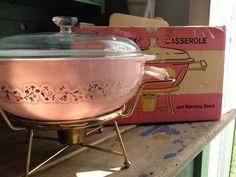 RARE Pyrex Pink Duchess Casserole & Original Box | 190