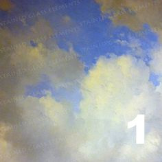 Ceramic decal Clouds, size 10 x 10cm (3.94 x 3.94 inch), firing temperature 1400-1562 ºF, ceramic decal tile, enameling ceramic decal, cloud door StainedGlassElements op Etsy
