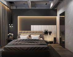 creative lighting effect at bedroom