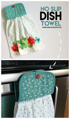 easy sew no slip dish towel