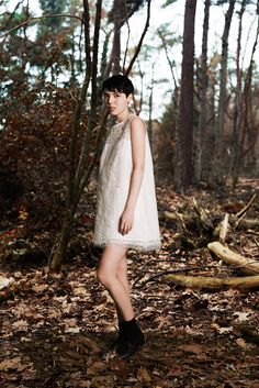 Sea   Pre-Fall 2015   34 White lace sleeveless mini dress