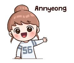 Anime Korea, Korean Anime, Pop Stickers, Kawaii Stickers, Cute Korean Words, Korean Expressions, Korean Stickers, Korean Lessons, Cute Love Gif