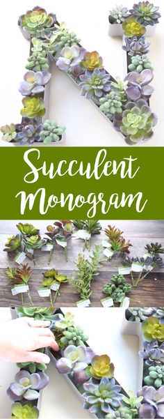 This Faux Succulent Monogram Planter was such a fun and easy DIY!