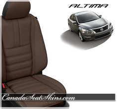 2013 - 2015 Limited Edition Black Wrap with Brown Faced Leather Upholstery Package - Customize Yours Today at canadaseatskins.com  #nissan #altima #leatherseats #automotiveleather