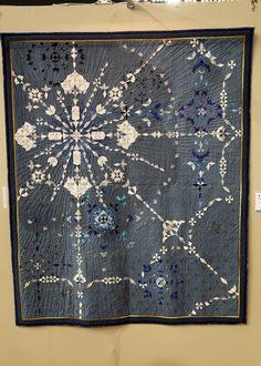 120122 Tokyo Quilt Show Sampler Quilts, Star Quilts, Frozen Quilt, Rainbow Quilt, Japanese Quilts, Fabric Pictures, Quilt Festival, Contemporary Quilts, Blue Quilts