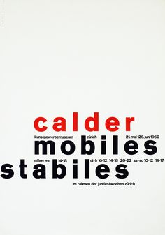 Calder Mobiles Stabiles by Mueller, Fridolin | Shop original vintage #posters online: www.internationalposter.com