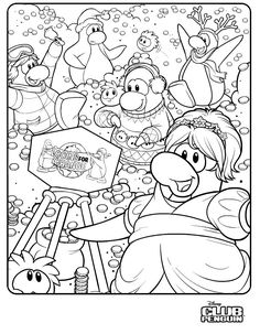 best club penguin coloring pages puffles print - http ... - Club Penguin Coloring Pages Ninja