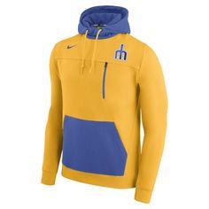 0cee6b9618f8 Men s Nike Gold Seattle Mariners AV 2 Fleece Pullover Hoodie