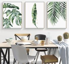 Canvas Poster, Canvas Art Prints, Canvas Wall Art, Framed Canvas, Canvas Paintings, Print Poster, Leaf Prints, Wall Collage, Watercolor Plants