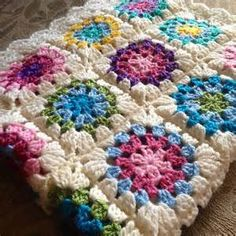 crochet flower baby blanket - Bing Images
