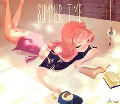 Una mañana entera para leer: placeres de las vacaciones (ilustración de Ke Yang)