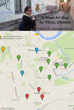 A map of awesome pieces of street art in Vilnius, Lithuania. Click through to read: Creative Lithuania: Vilnius Street Art Festival 2015.