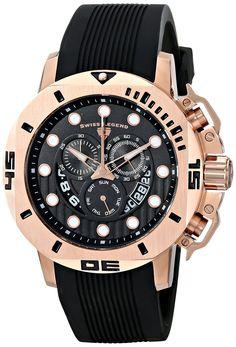 Swiss Legend Men's 10538S-RG-01 Scubador Analog Display Swiss Quartz Black Watch *** Visit the image link more details.