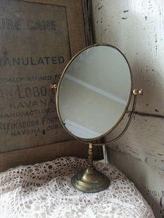 vintage shaving mirror great patina by shabbychatue on Etsy, $29.00