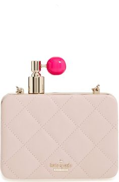 KATE SPADE 'On Pointe - Perfume Bottle' Quilted Leather Clutch. #katespade #bags #shoulder bags #clutch #lining #leather #hand bags #