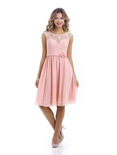 Alexia Designs style Chiffon bridesmaid dress with lace bodice 264b4c0ae
