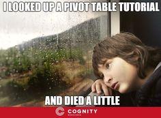#Geek #humour #Excel #Microsoft #meme #spreadsheet #joke #computer #funny #Cognity #szkolenia #żarty