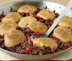 Cornbread-and-Beef Skillet Pie